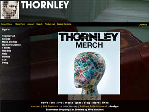 thornley band merch site