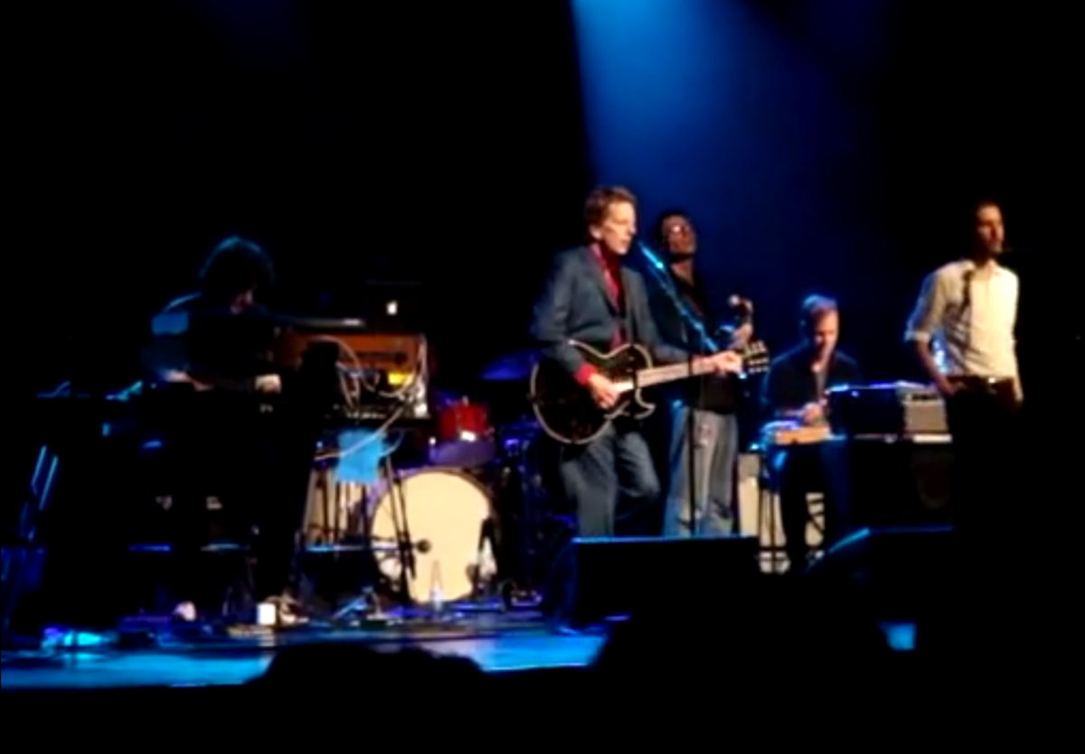 Art Bergmann and Tony Dekker from Great Lake Swimmers performing a cover of Sin City at the Queen Elizabeth Theatre in Toronto